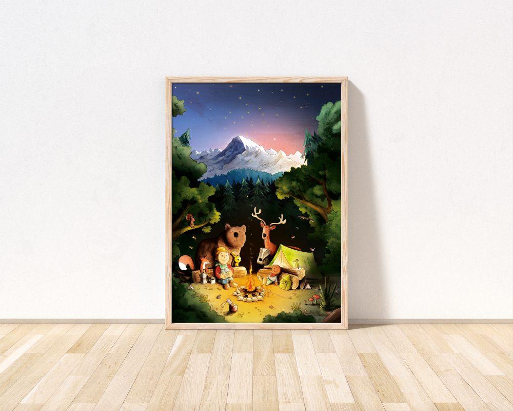 ein-tolles-Kinderzimmer-Poster-mit-Tieren