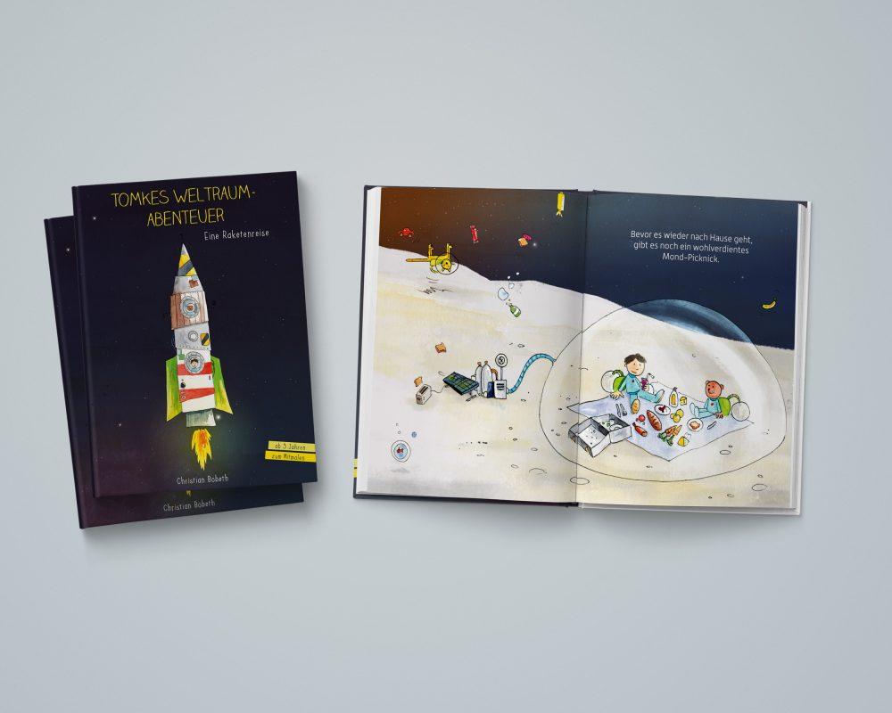 Weltraum-Bilderbuch-Raketen-kinderbuch